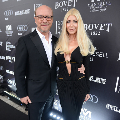 Director Paul Haggis and Sylvia Mantella attend the Artists for Peace and Justice festival gala