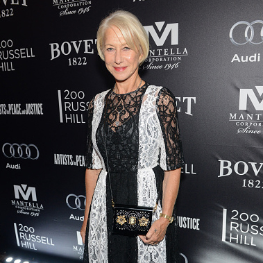 Actress Helen Mirren attends the Artists for Peace and Justice festival gala