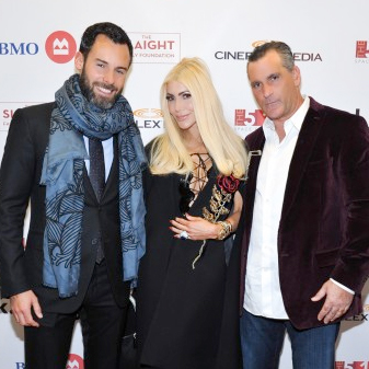Mantella Corporation Sponsored The 519 Salah Bashir Fundraiser on October 18 2015 starring KD Lang   Mr Benoit Louis Vuitton (Left), Sylvia Mantella (centre) and Robert Mantella